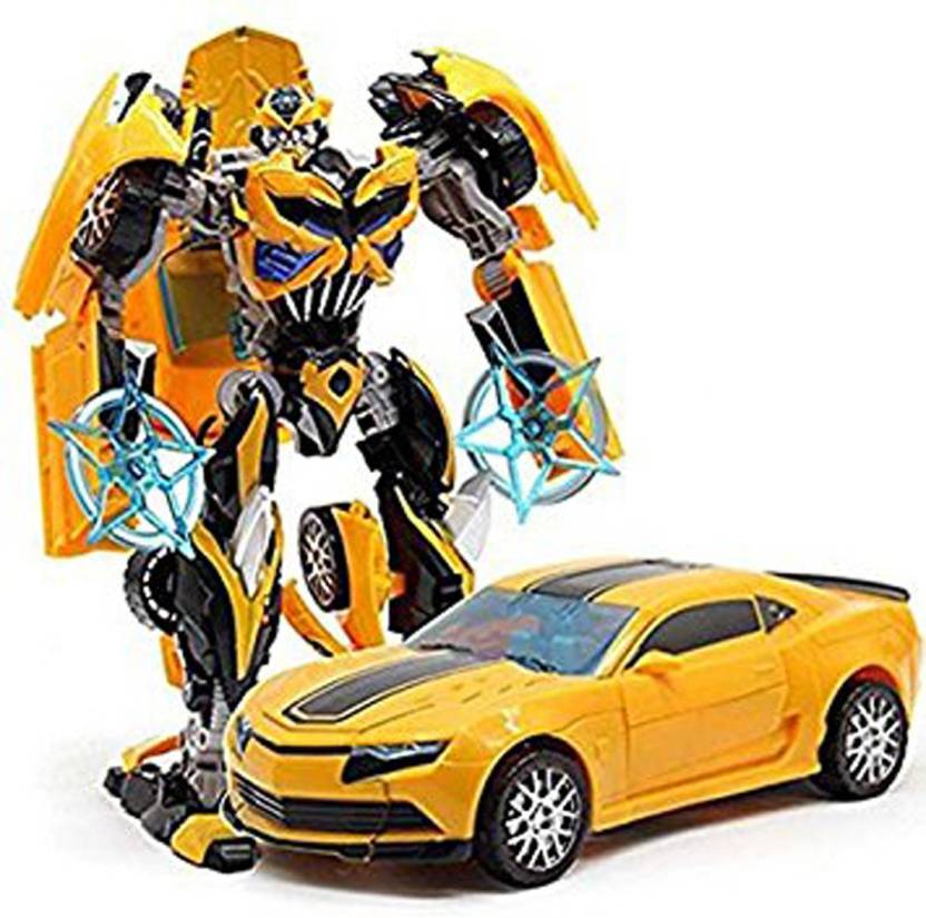 P17 collection Robot to Car Converting Transformer Toy For Kids Yellow