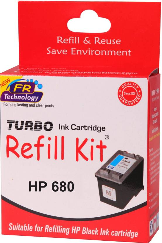 turbo refill kit for hp 680 black cartridge Single Color Ink Cartridge Black