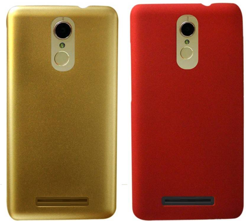 COVERNEW Back Cover for Mi Redmi Note 3 Red, Gold