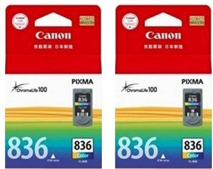 Canon 836 Color Twin Multi Color Ink Cartridge Magenta, Cyan, Yellow