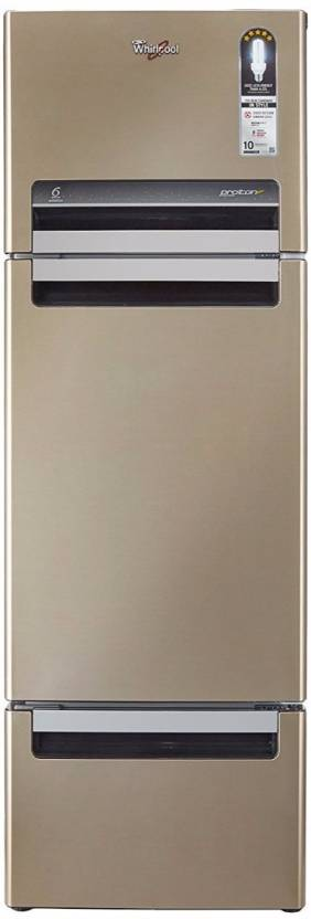 Whirlpool 240 L Frost Free Triple Door Refrigerator Sunset Bronze N , FP 263D PROTTON ROY
