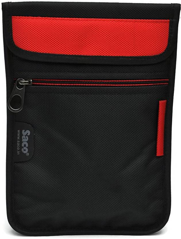 Saco Pouch for Tablet Samsung Galaxy Tab A SM T355YZAA Bag Sleeve Sleeve Cover  Red  Black