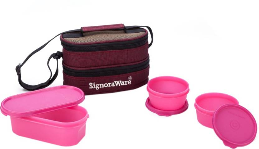 Signoraware Healthy 3 Containers Lunch Box 900 ml