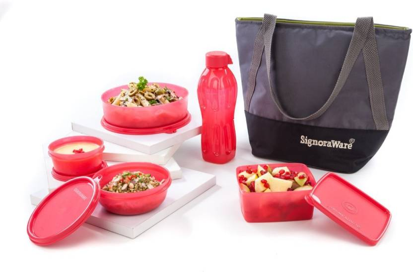 Signoraware Sling Bling 5 Containers Lunch Box 1750 ml