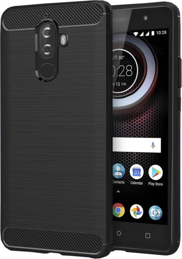 Knotyy Back Cover for Lenovo K8 Plus Black, Silicon