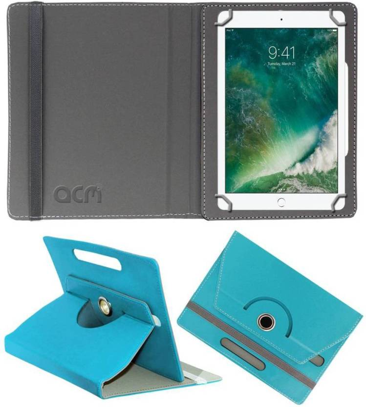 ACM Book Cover for Apple Ipad 2017 9.7 Greenish Blue, Cases with Holder