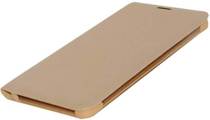 Mobi Universal Store Flip Cover for Samsung Galaxy J7 Max Gold, Dual Protection