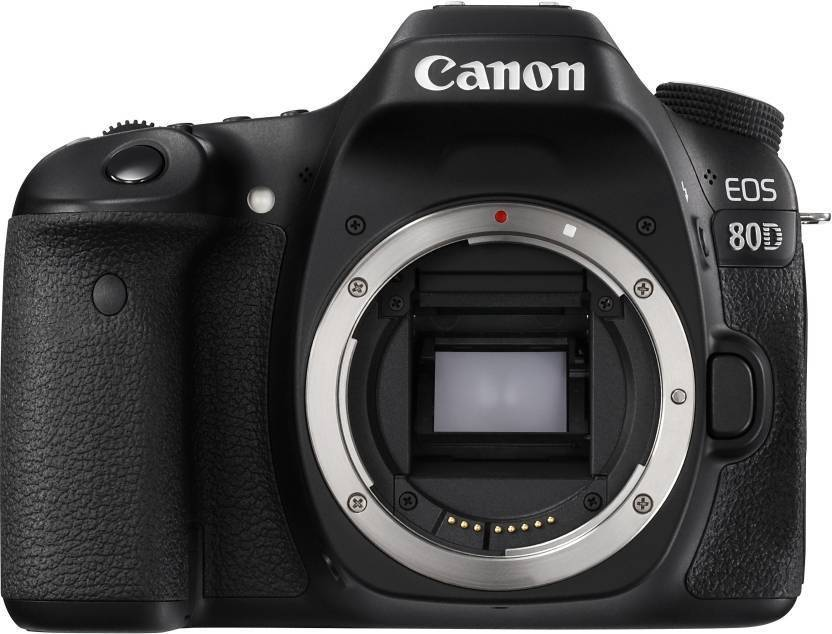 Canon EOS 80D W  DSLR Camera  Body Only   16  GB SD Card  Black