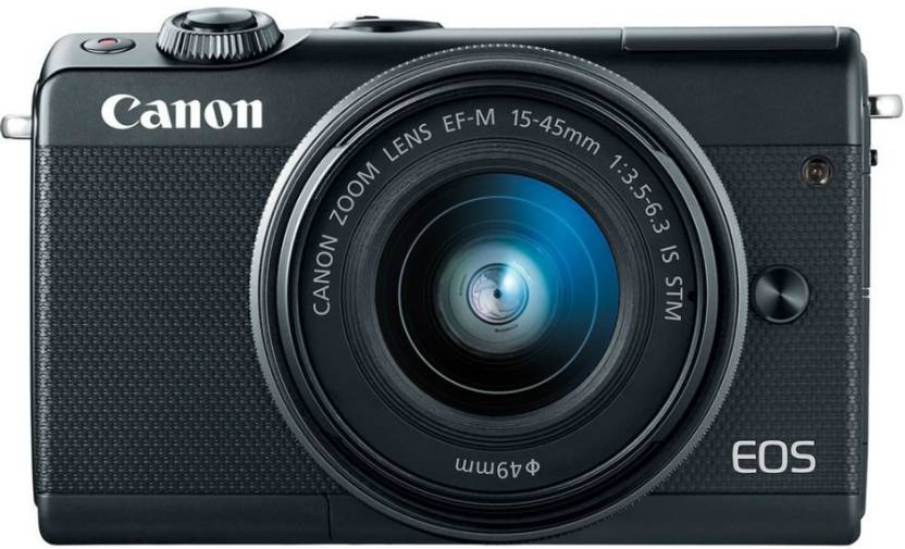 Canon M100 Mirrorless Camera Body with Single Lens EF M 15 45 mm IS STM Black