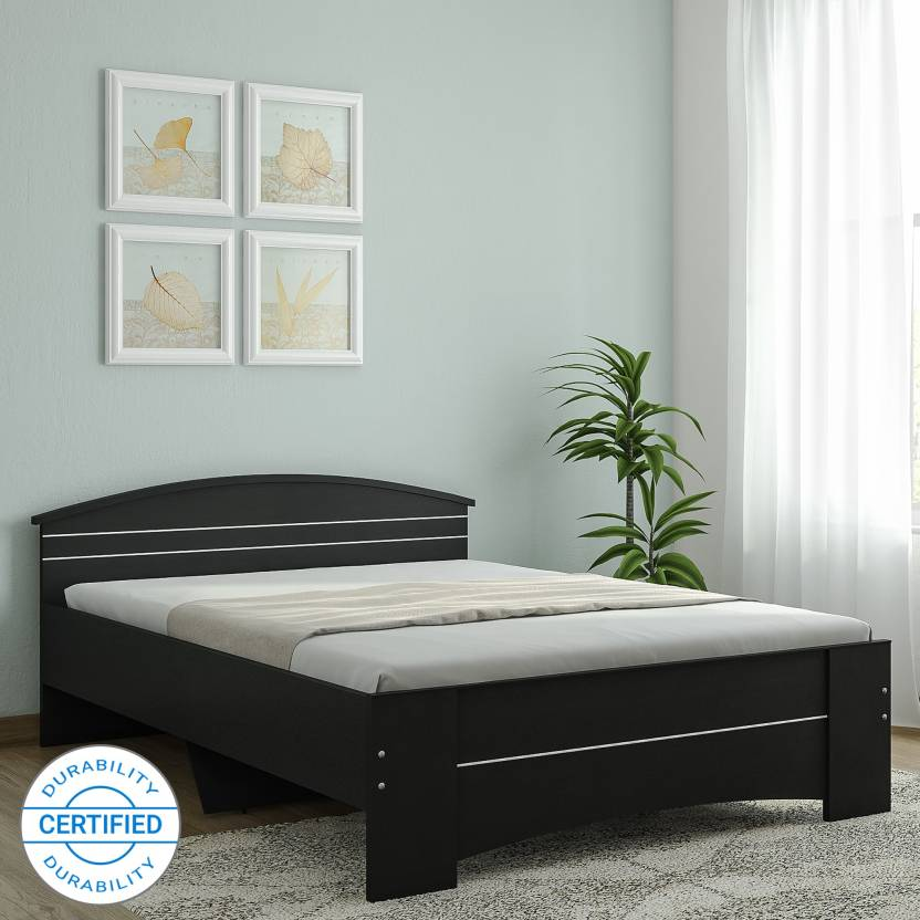 Spacewood Maxima Engineered Wood Queen Bed Finish Color   Melamine