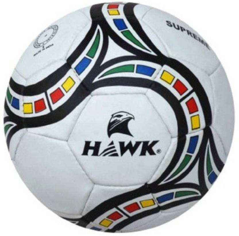 HAWK SUPREME Extra Durable Rubber Football   Size: 5 Pack of 1, White