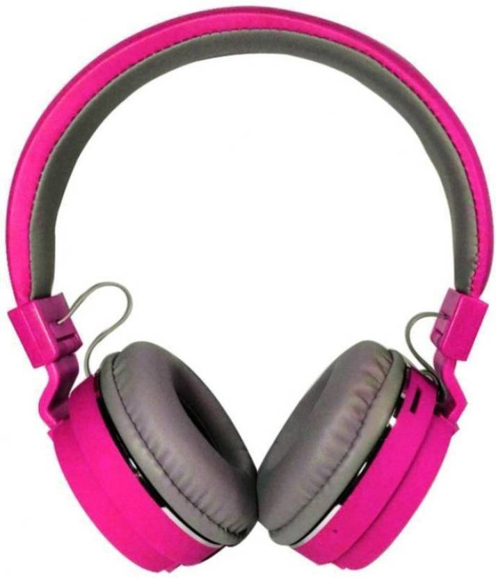 Piqancy SH12 Bluetooth Headset with Mic Pink, Over the Ear