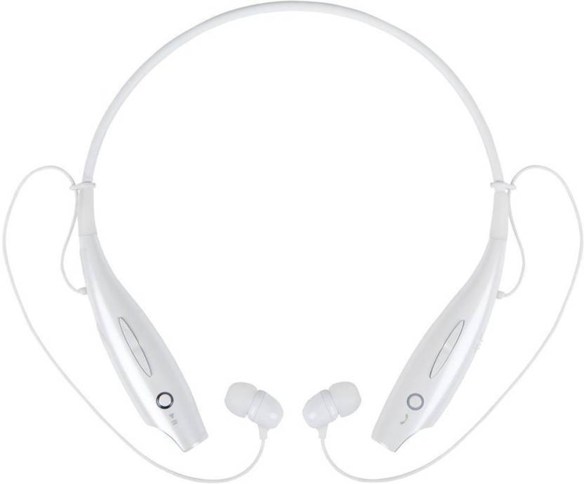 CALLIE hbs730 Bluetooth Headset with Mic White, In the Ear