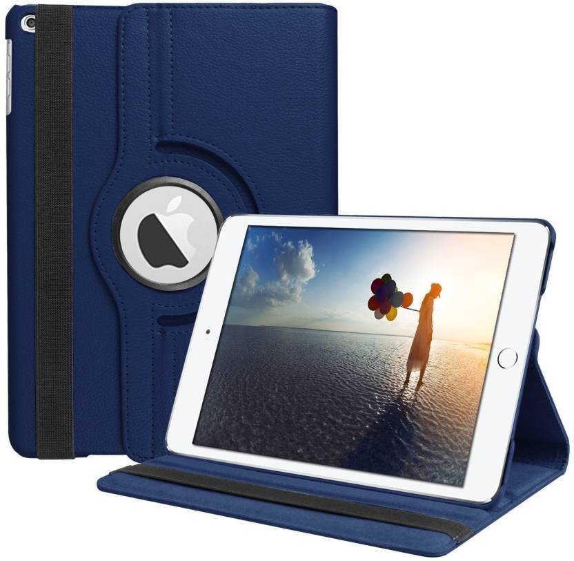 TGK Book Cover for Apple iPad 2017 9.7 inch  5Th Generation  A1822/A1823 Rotating Smart Flip Case  Sleep/Wake  Dark Blue, Cases with Holder
