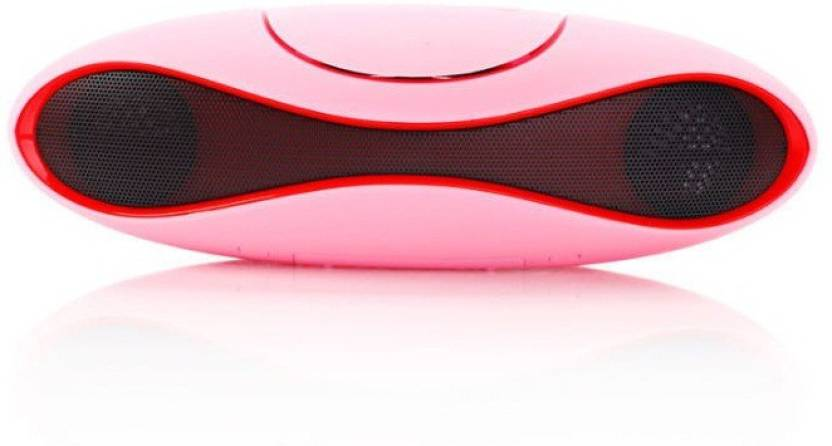 CALLIE Portable Ru gby Music Subwoofer Bluetooth Speaker Pink, 2.1 Channel