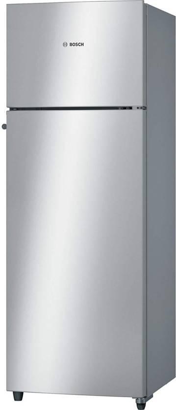 Bosch 290 L Frost Free Double Door 2 Star Refrigerator Silver, KDN30VS20I