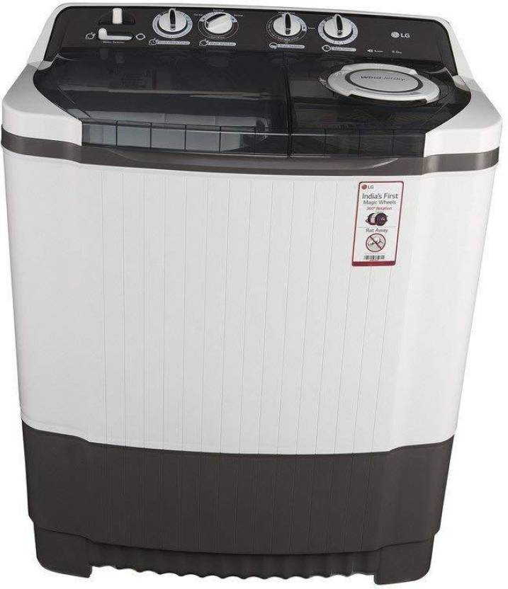 LG 8 kg Semi Automatic Top Load Washing Machine Grey P9039R3SM