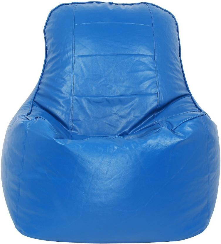 RKBeanbag XXXL Lounger Bean Bag Cover  Without Beans  Blue