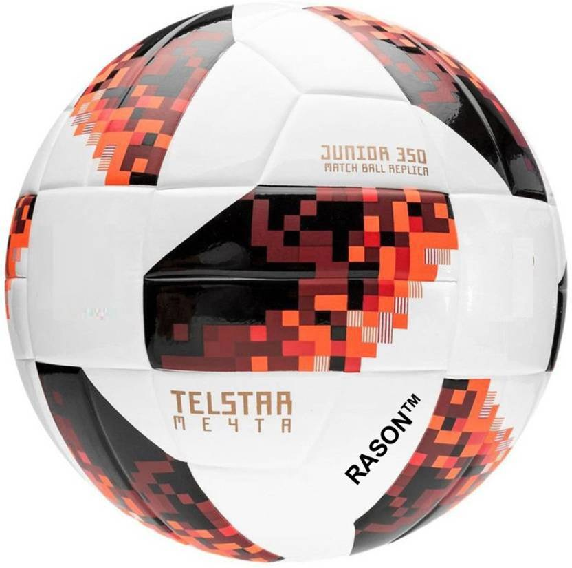 RASON Telestar Red Size 5 Match Ball Football   Size: 5 Pack of 1, Multicolor