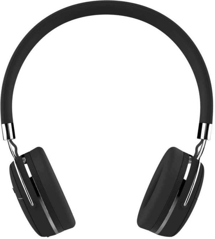 Portronics POR 645 Muffs Pro with AUX Port Bluetooth Headset with Mic Black, Over the Ear