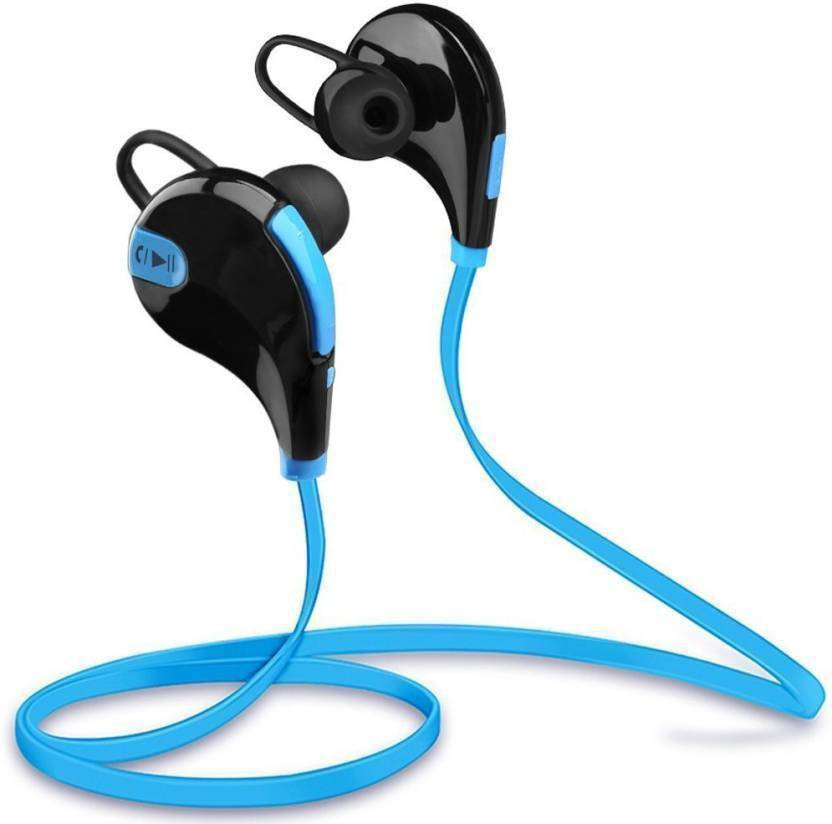 Doodads Bluetooth Sports Stereo Headset for all Smartphones  Assorted  Bluetooth, Wired Headset with Mic Multicolor, In the Ear