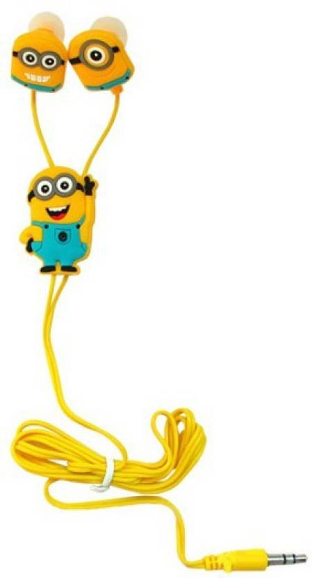 EWELL Mobile Cafe MInions With Mic Edition Earphones Headphone Wired Headset Multicolor, Wireless in the ear