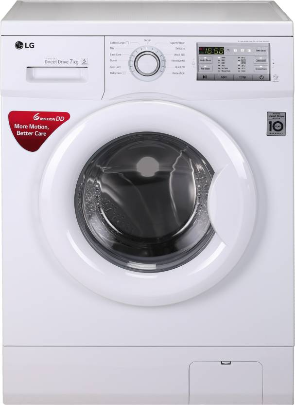 LG 6 kg Fully Automatic Front Load Washing Machine with In built Heater White FH0H3NDNL02