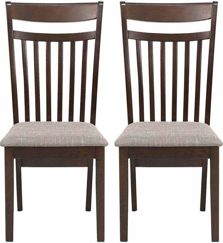 Woodness Paula Solid Wood Dining Chair Set of 2, Finish Color   Wenge