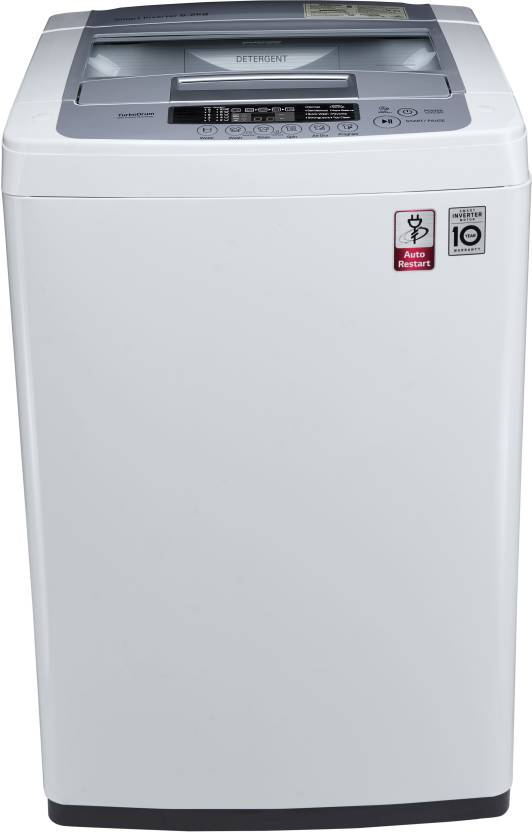 LG 6.2 kg Inverter Fully Automatic Top Load Washing Machine White, Silver T7269NDDL
