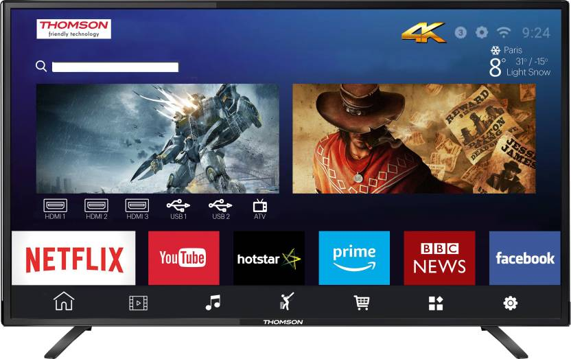 Thomson UD9 108cm  43 inch  Ultra HD  4K  LED Smart TV 43TH6000