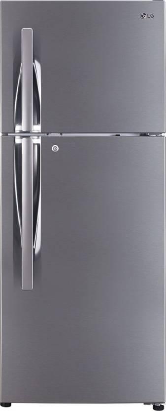 LG 260 L Frost Free Double Door 4 Star Refrigerator Shiny Steel, GL I292RPZL
