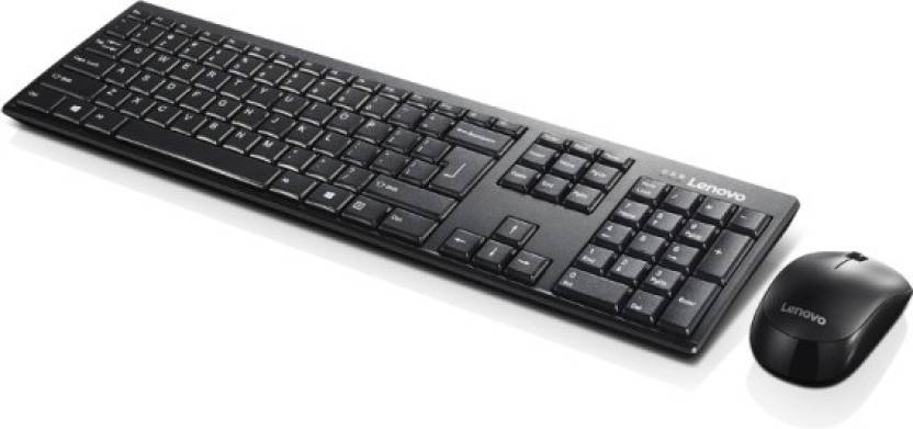 Lenovo KB MICE_BO Wireless combo 100 Eng Wireless Laptop Keyboard Black