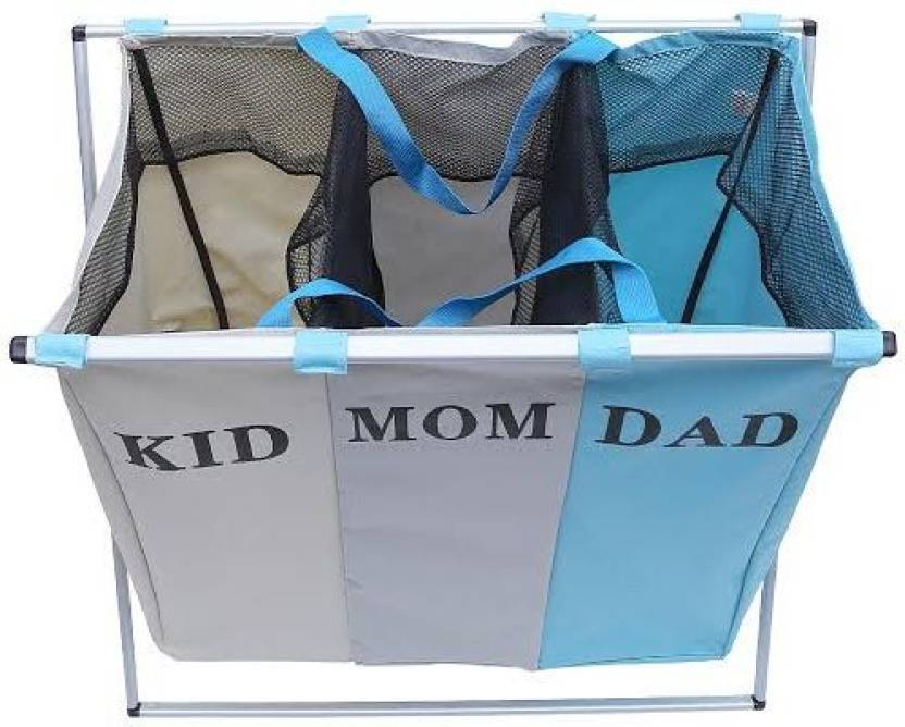 BMS Lifestyle More than 20 L Multicolor Laundry Basket Polyester