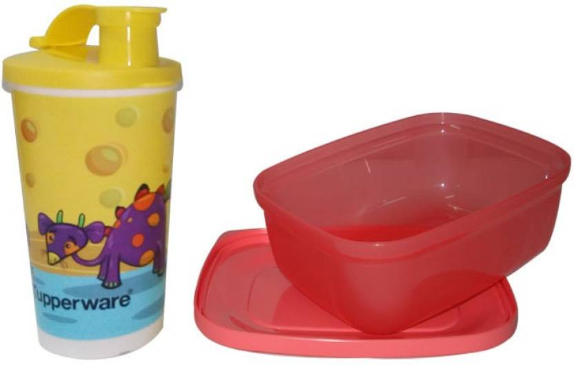 Tupperware Rectangular Lunch,Tumbler 2 Containers Lunch Box