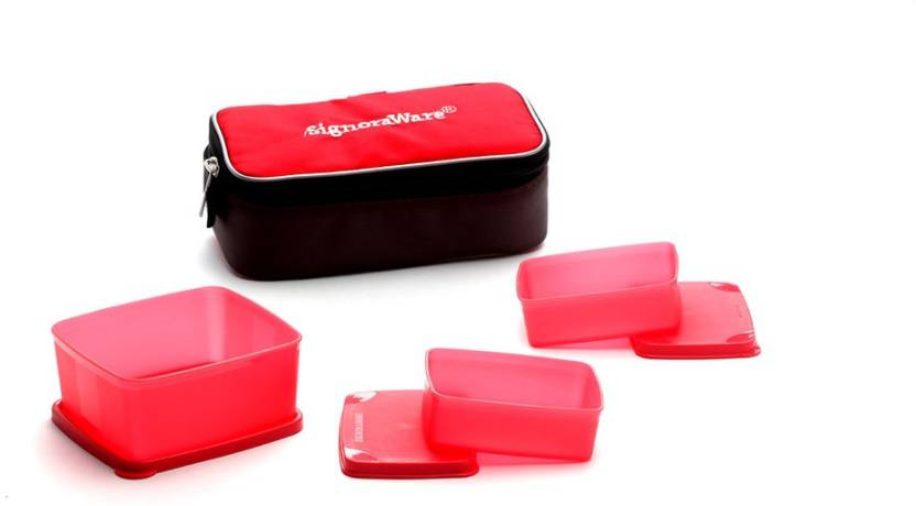 Signoraware 552 Eat in 3 Containers Lunch Box 750 ml