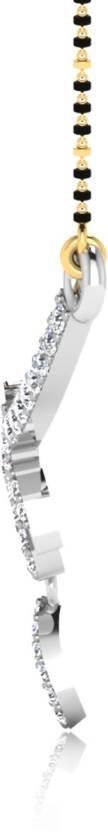 IskiUski Twisted 14kt Diamond Platinum Mangalsutra Tanmaniya