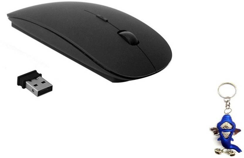 Terabyte Ultra thin 2.4GHz Black Wireless Optical Mouse USB, Black