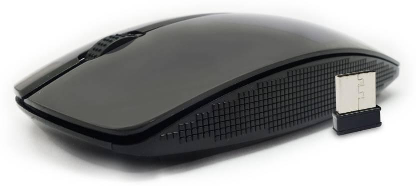 Portronics Quest Wireless Laser Mouse USB, Black