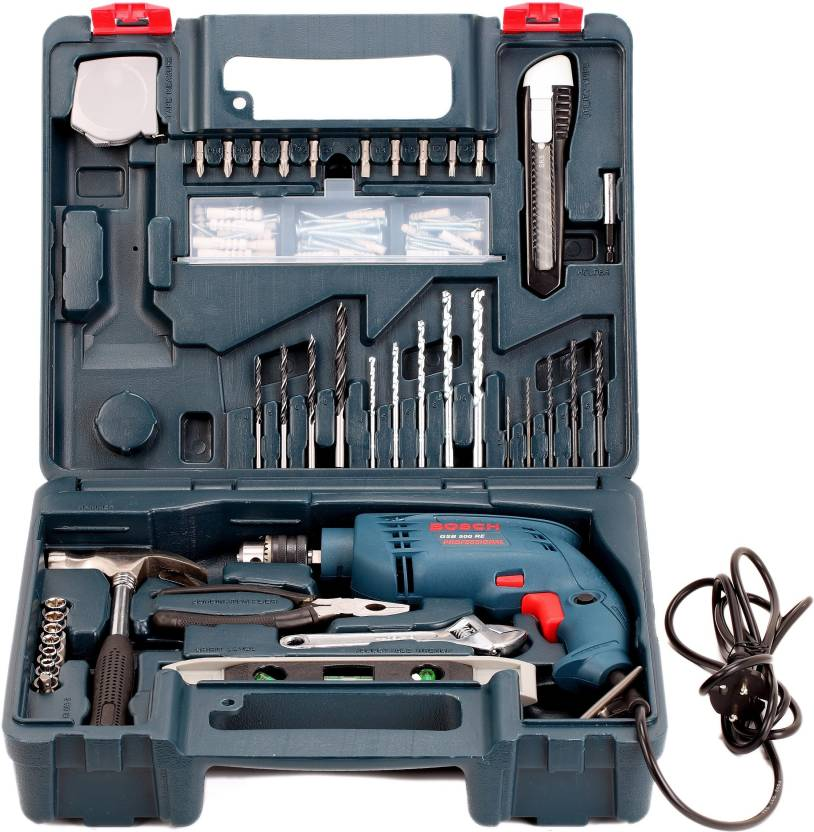 Bosch GSB 500 RE Power Hand Tool Kit 92 Tools Best Price