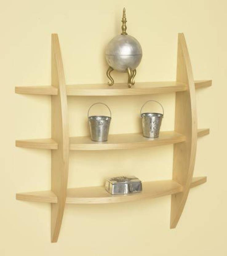The New Look mw12cr Wooden Wall Shelf