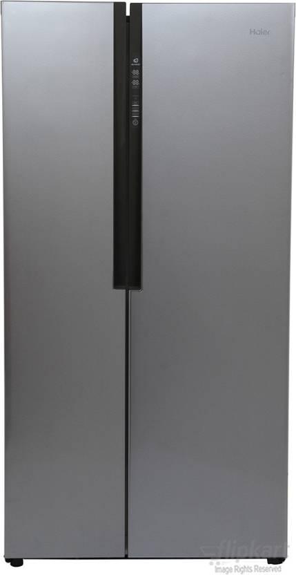 Haier 565 L Frost Free Side by Side Refrigerator Silver Steel / Grey, HRF 618SS