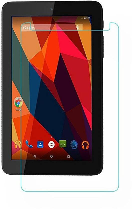 Colorcase Tempered Glass Guard for Micromax Canvas Tab P681