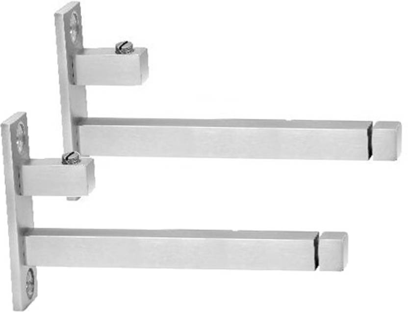 Smart Shophar Stainless Steel F Type Square Glass Shelf Bracket 2 Pc 6 Inches 8 mm 15.24cm X 5.08cm Shelf Bracket Stainless Steel