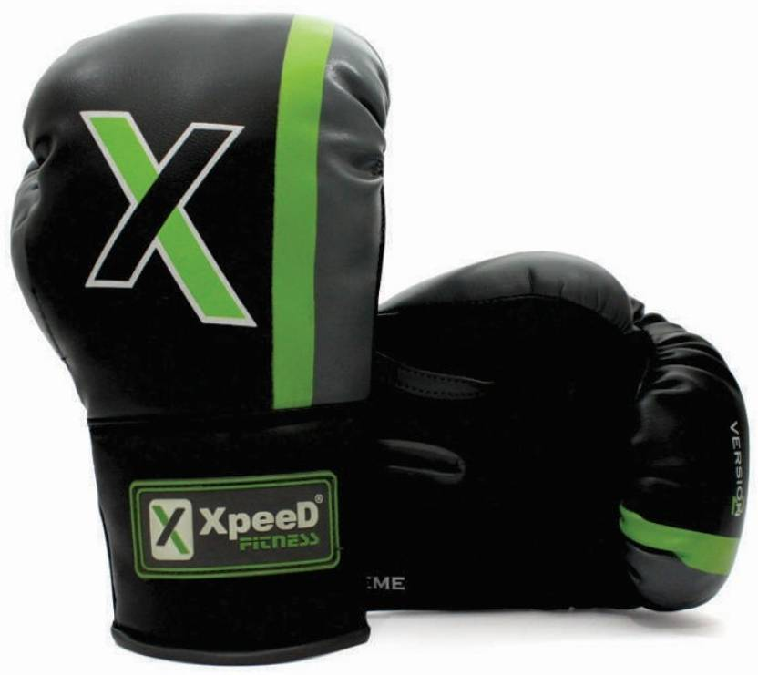 Xpeed Junior 8 oz Boxing Gloves Black, Green