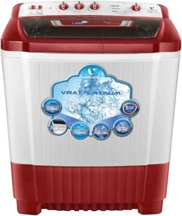 Videocon 9 kg Semi Automatic Top Load Washing Machine WM VS90P20 DRK