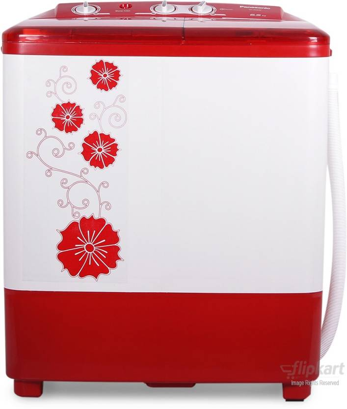 Panasonic 6.5 kg Semi Automatic Top Load Washing Machine Red NA W65B2RRB
