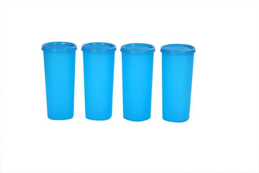 Signoraware Jumbo Tumbler 500 ml Water Bottles Set of 4, Blue